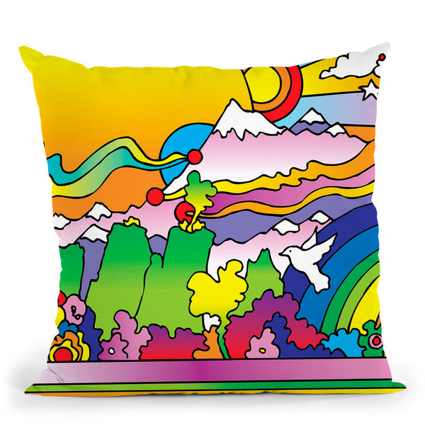 Sun 6 Throw Pillow By Howie Green - All About Vibe