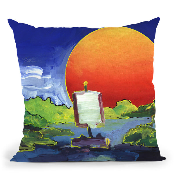 Sun Boat Throw Pillow By Howie Green - All About Vibe