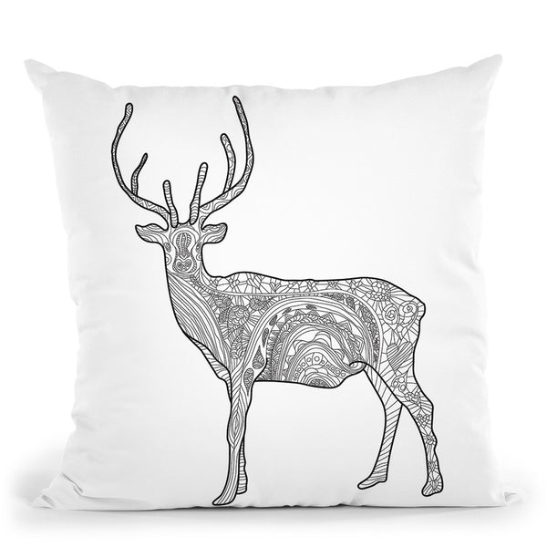 Deer Throw Pillow By Bob Weer - All About Vibe
