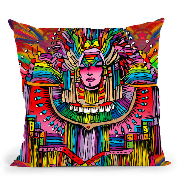 Mardi Gras Lady 1 Throw Pillow By Howie Green - All About Vibe
