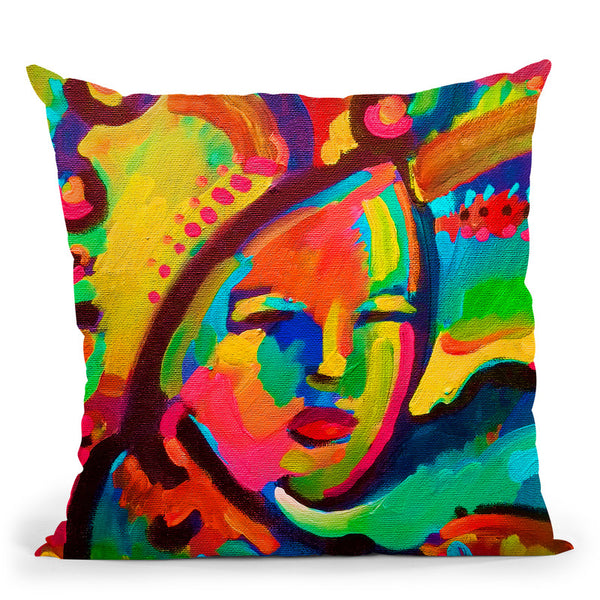 Mardi Gras Lady 3 Throw Pillow By Howie Green - All About Vibe