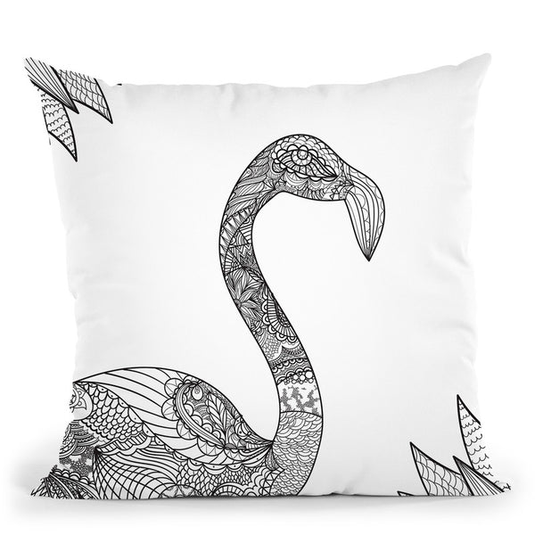 Flamingo Ii Throw Pillow By Bob Weer - All About Vibe