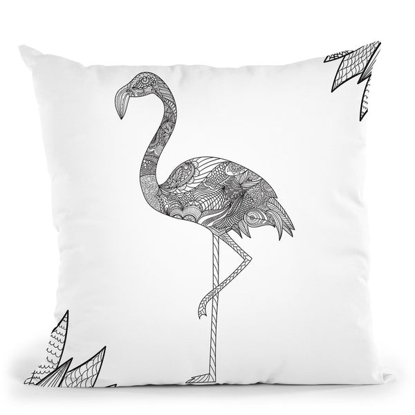 Flamingo Throw Pillow By Bob Weer - All About Vibe
