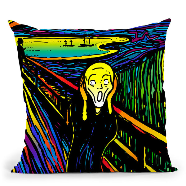 Scream 2 Throw Pillow By Howie Green - All About Vibe