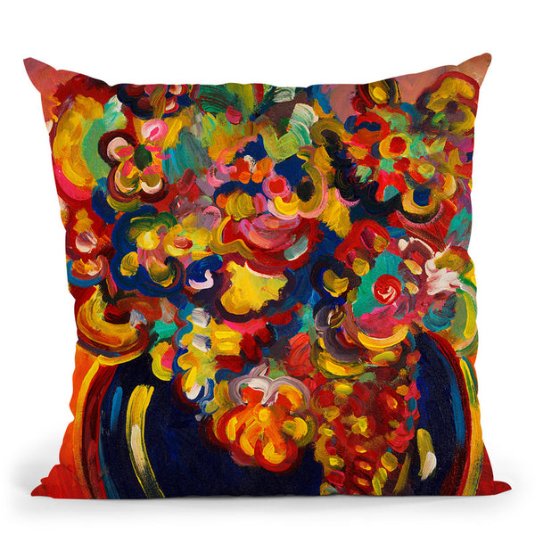 Flowers 5 Throw Pillow By Howie Green - All About Vibe
