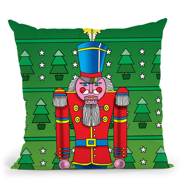 Pop Art Nutcracker Throw Pillow By Howie Green - All About Vibe