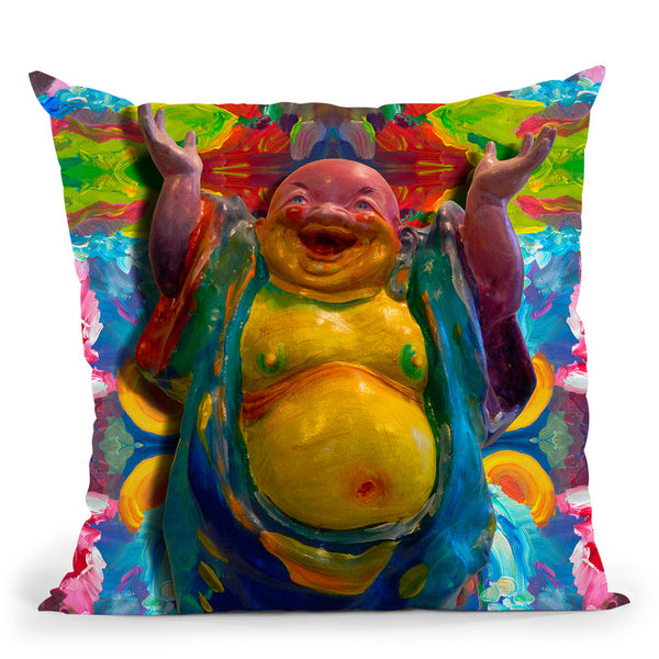 Buddha Waterfall Throw Pillow By Howie Green - All About Vibe