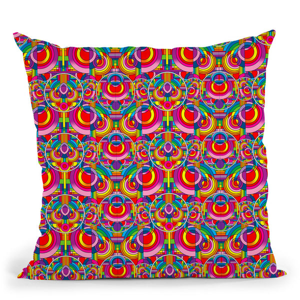 Pop Art Deco Circles Pattern Throw Pillow By Howie Green - All About Vibe