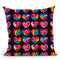Pop Art Hearts Throw Pillow By Howie Green