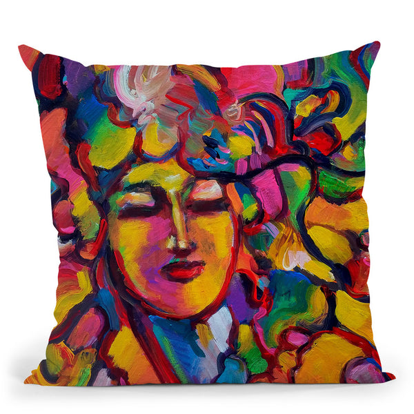 Mardi Gras Lady 6151 Throw Pillow By Howie Green - All About Vibe