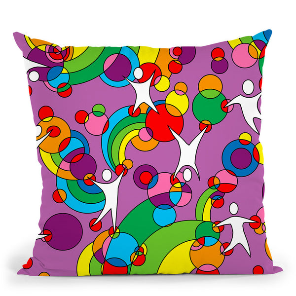 Pop Art Playground Throw Pillow By Howie Green - All About Vibe