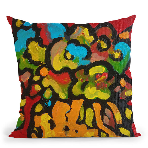 Art Flowers Throw Pillow By Howie Green - All About Vibe