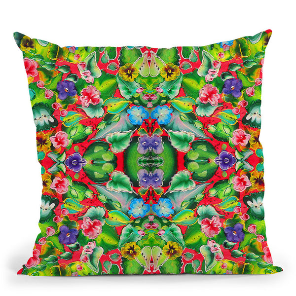 Flowers Pink 715 Throw Pillow By Howie Green - All About Vibe
