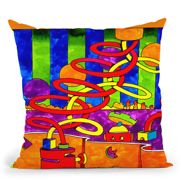 Mambo Double Twist Throw Pillow By Howie Green - All About Vibe