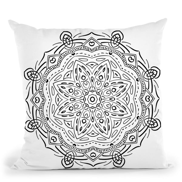 Mandalaaa Throw Pillow By Bob Weer - All About Vibe