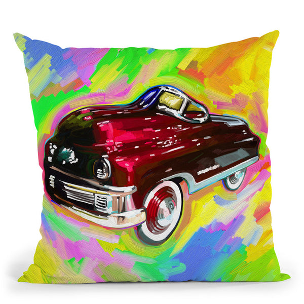 Pop Art Kiddie Car Throw Pillow By Howie Green - All About Vibe