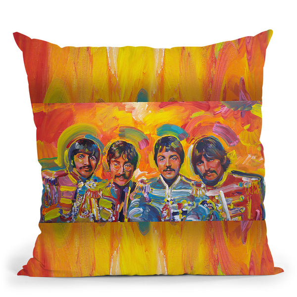 Beatles Sgt-Peppers Throw Pillow By Howie Green - All About Vibe
