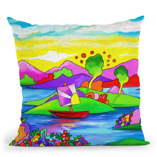 Mamboland Landscape-815 Throw Pillow By Howie Green - All About Vibe
