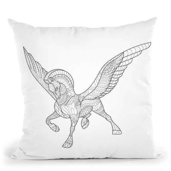Pegasus Throw Pillow By Bob Weer - All About Vibe