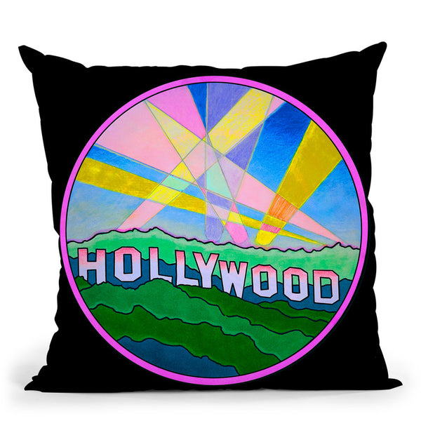 Pop-Art-Hollywood-Circle Throw Pillow By Howie Green - All About Vibe