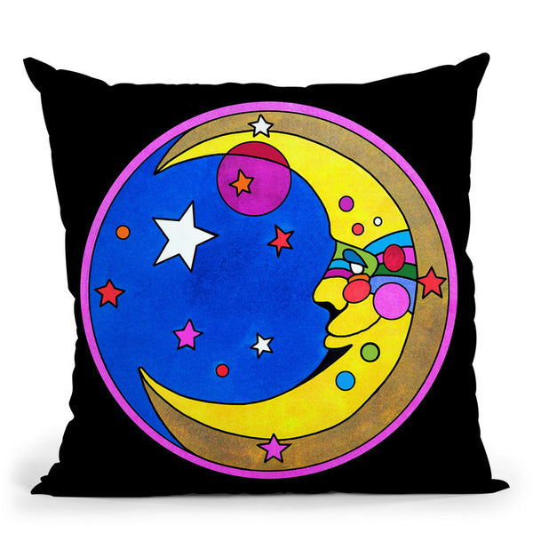Pop-Art-Moon-Circle Throw Pillow By Howie Green - All About Vibe