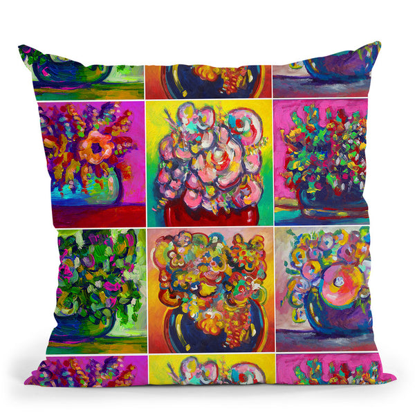 6 Flowers2 Throw Pillow By Howie Green - All About Vibe