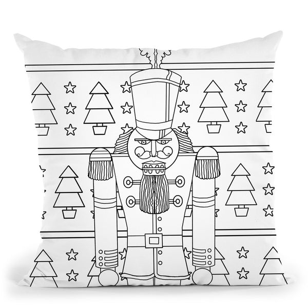 Nutcracker Throw Pillow By Howie Green - All About Vibe