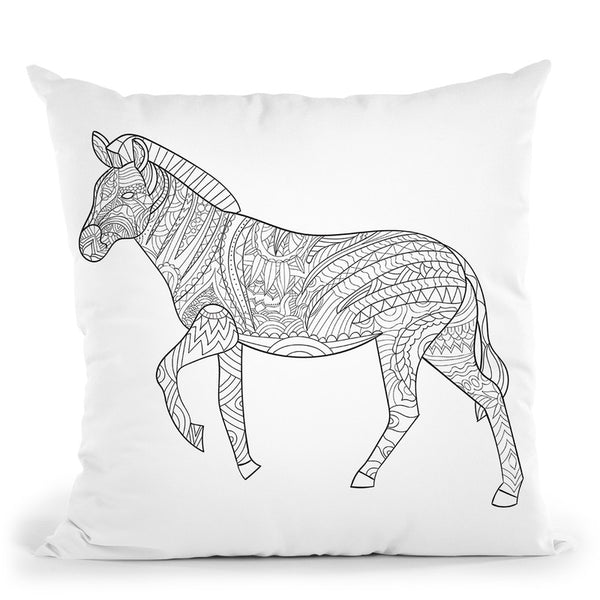 Zebra 2 Throw Pillow By Bob Weer - All About Vibe