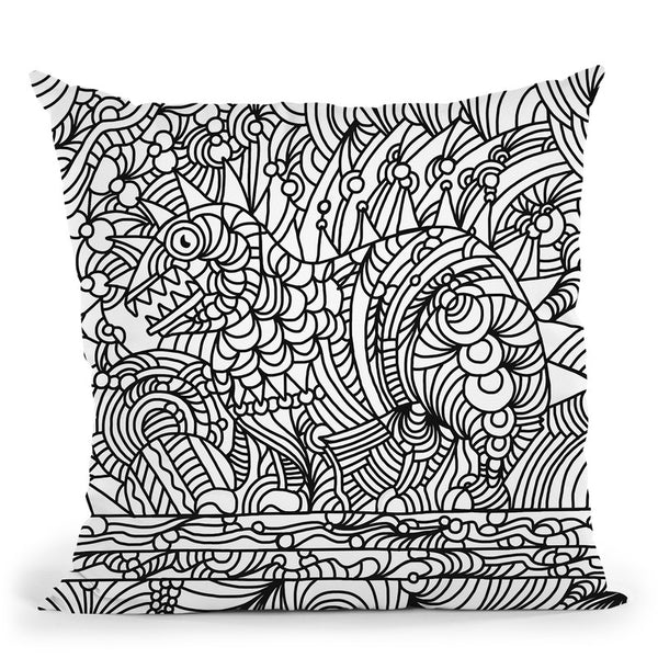 Phinn Monster 2 Throw Pillow By Howie Green - All About Vibe