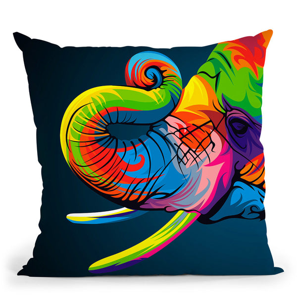 Elephant Throw Pillow By Bob Weer - All About Vibe