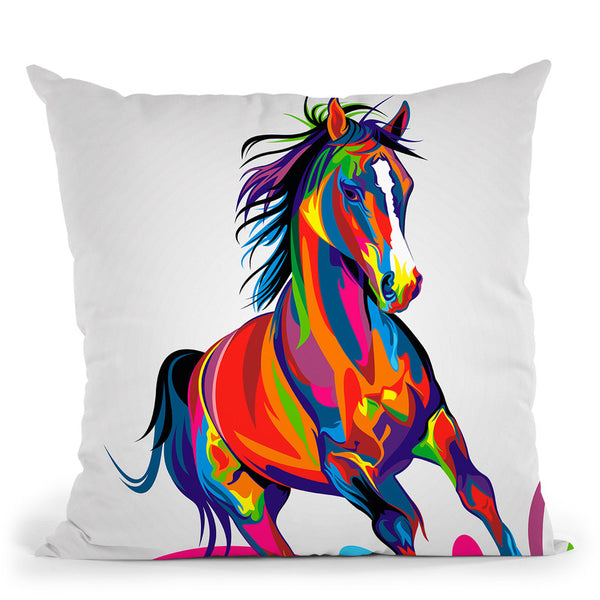 Horse Throw Pillow By Bob Weer - All About Vibe
