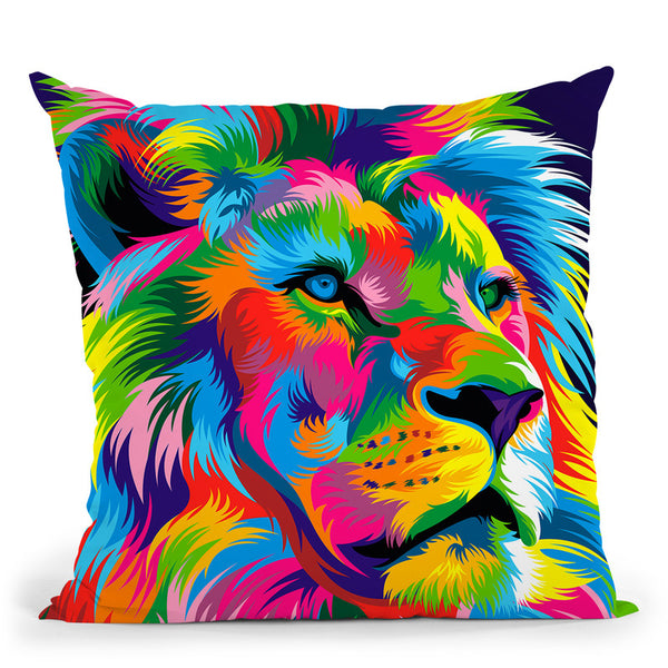 Lion New Throw Pillow By Bob Weer - All About Vibe