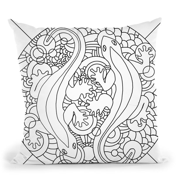 Salamanders Throw Pillow By Howie Green - All About Vibe