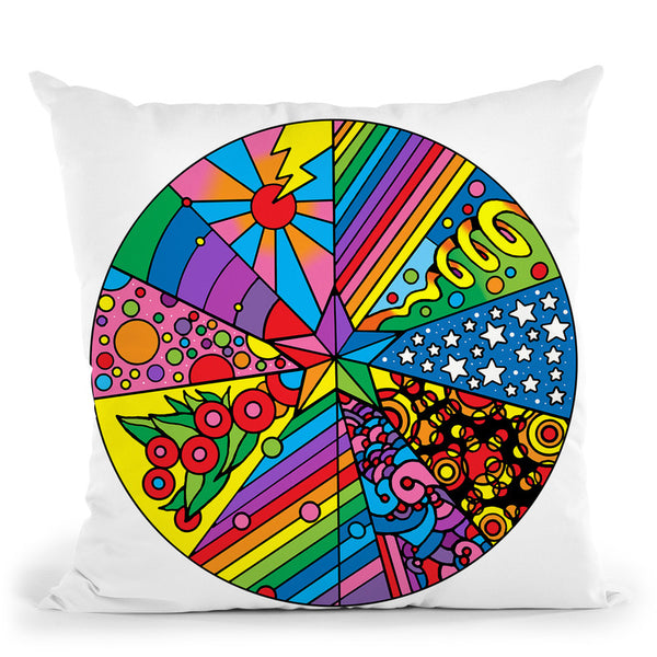Star Circle 2 Throw Pillow By Howie Green - All About Vibe