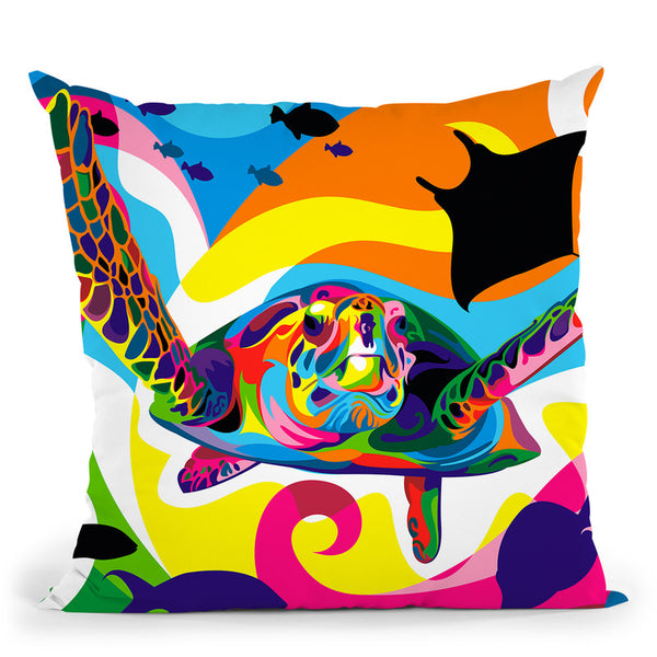 Underwater Throw Pillow By Bob Weer - All About Vibe