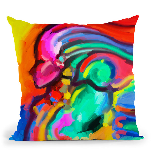 Carnivale Lady 316 Throw Pillow By Howie Green - All About Vibe