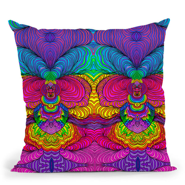 Swirls 316 A Throw Pillow By Howie Green - All About Vibe