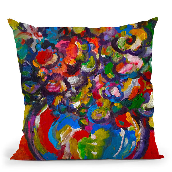 Flowers Throw Pillow By Howie Green - All About Vibe
