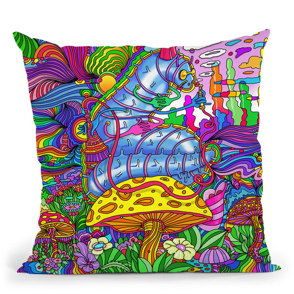 Pop Art Caterpillar Throw Pillow By Howie Green - All About Vibe