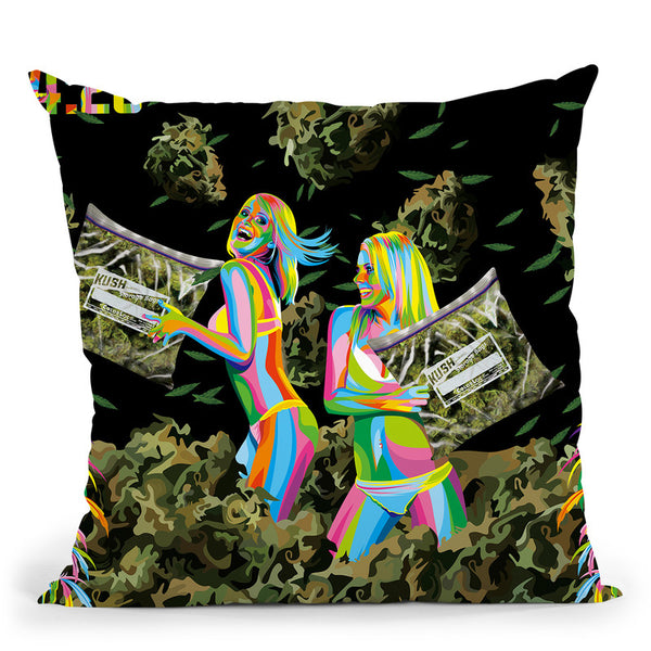 Fight Throw Pillow By Bob Weer - All About Vibe