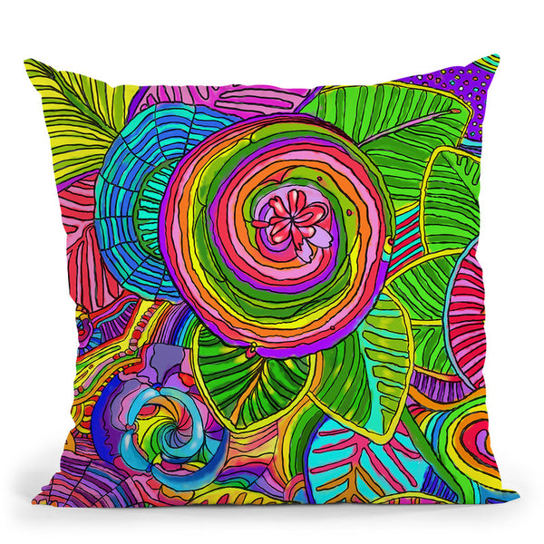Water Flowers Throw Pillow By Howie Green - All About Vibe