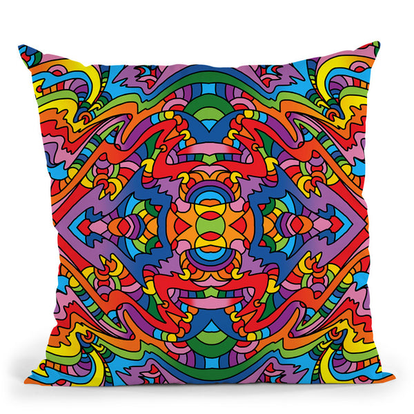 Pop Art Mambo 916 Throw Pillow By Howie Green - All About Vibe