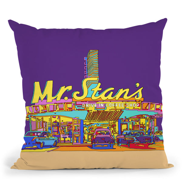 Pop Art Mr Stan Throw Pillow By Howie Green - All About Vibe