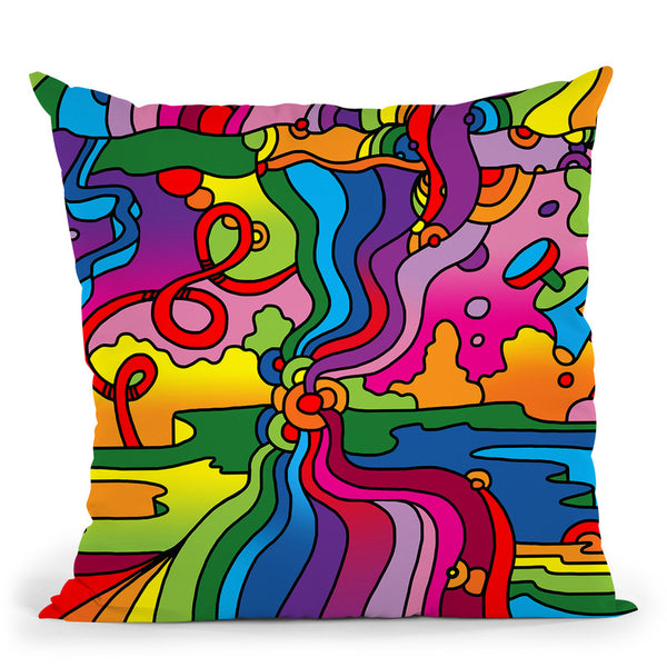 Pop-Art-Mambo-216C Throw Pillow By Howie Green - All About Vibe