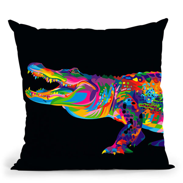 Alligator Throw Pillow By Bob Weer - All About Vibe