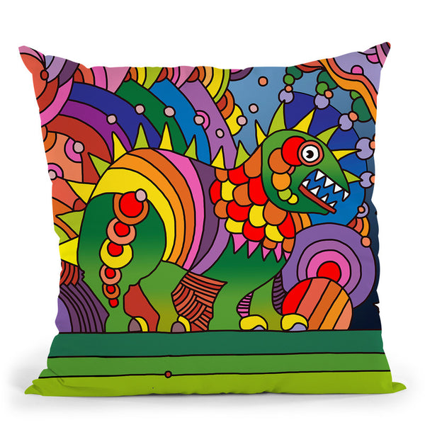 Pop-Art-Phinn-Monster Throw Pillow By Howie Green - All About Vibe