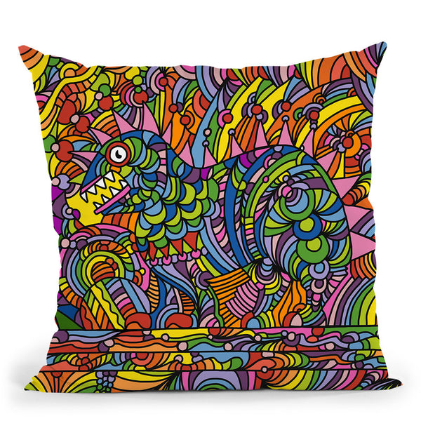 Pop-Art-Shane-Monster Throw Pillow By Howie Green - All About Vibe