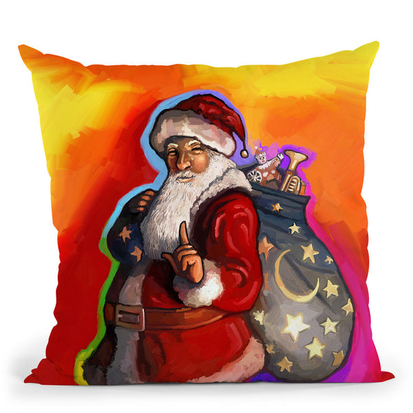 Pop Art Santa Throw Pillow By Howie Green - All About Vibe