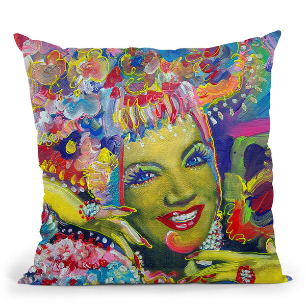 Carmen Miranda Throw Pillow By Howie Green - All About Vibe