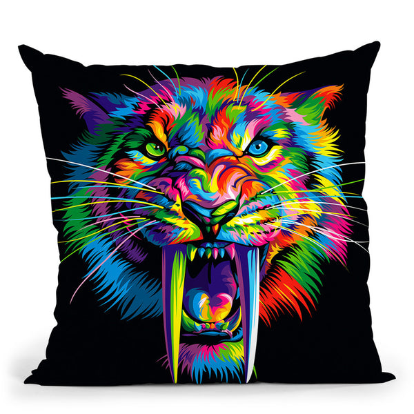 Sabertooth Throw Pillow By Bob Weer - All About Vibe